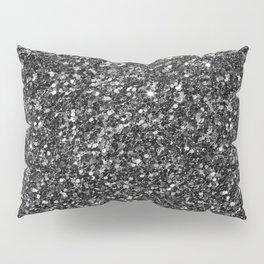 Modern Black Faux Glitter No2 Pillow Sham