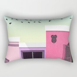 Three houses Rectangular Pillow