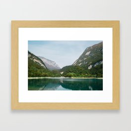 Lake and Mountains Framed Art Print