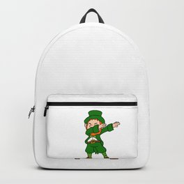 Funny Dabbing Leprechaun St Patricks Day Backpack