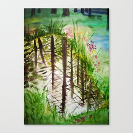 Into water / Vette Canvas Print