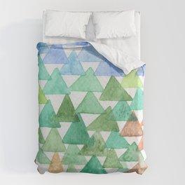 Forest of Tris Duvet Cover