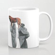 plato n aristotle walking their doge Mug