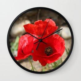 Poppy Parade Wall Clock