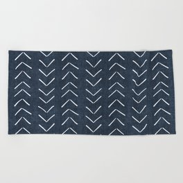 Mud Cloth Big Arrows in Navy Beach Towel