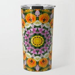 Tulips Dreams, Flower mandala, Floral mandala-style Travel Mug