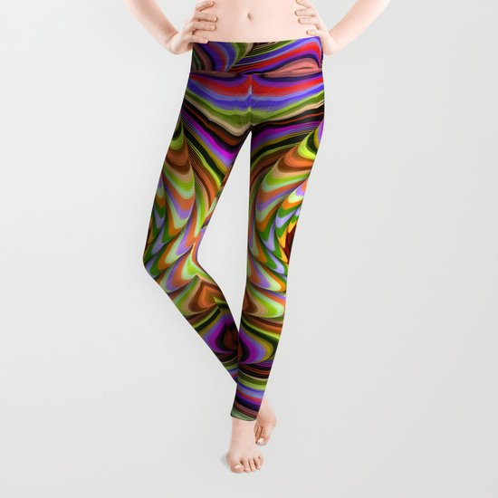 Colourful psychedelic motion Leggings