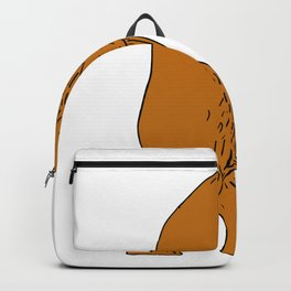 Brown Bear Boxing Stance Drawing Backpack