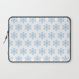 Snowflake Pattern Background Laptop Sleeve