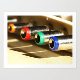 Colorful Electronic Adapters Art Print