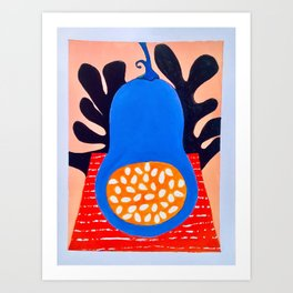 'Blue Butternut' Art Print