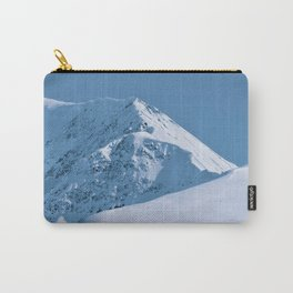 Winter Mountains in Glacier Blue - Alaska Carry-All Pouch