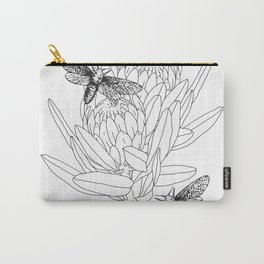 Protea and Moths Carry-All Pouch