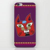 diablo iPhone & iPod Skins featuring Gato Diablo by Scribblebro