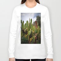 cactus Long Sleeve T-shirts featuring cactus by  Agostino Lo Coco