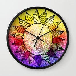 Rainbow Sun Design Wall Clock