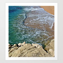 Clear water wave Art Print