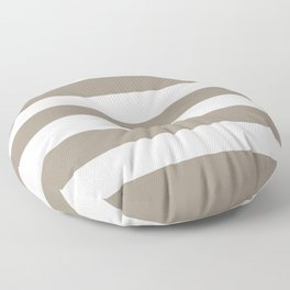 Stone Terrace - solid color - white stripes pattern Floor Pillow