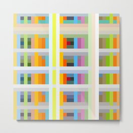 colorful geometric pattern design Negret Metal Print