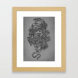Old School Snake Framed Art Print