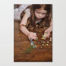 a miniature teaparty Canvas Print