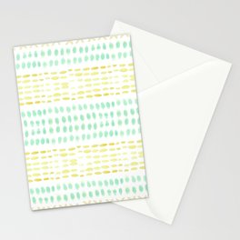 Striped dots and dashes Stationery Cards