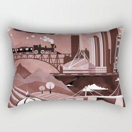 Melbourne Travel Poster Illustration Rectangular Pillow