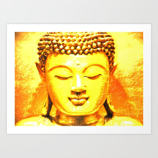 Buddha Illustration 33 Art Print