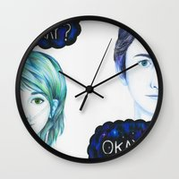 the fault in our stars Wall Clocks featuring The Fault In Our Stars by laserghost