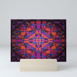 Kaleidoscope star pattern Mini Art Print