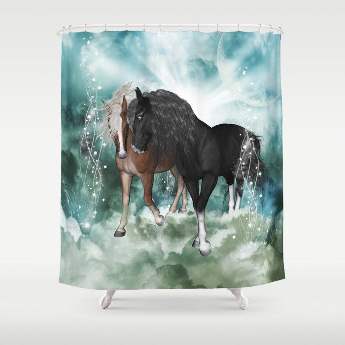 Wonderful Couple Horses Shower Curtain