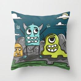 Monstarz Throw Pillow