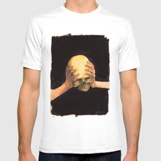 Head on Hands MEDIUM Mens Fitted Tee White