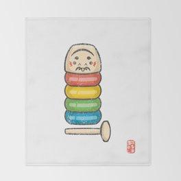 Daruma Otoshi [Special Lucky Toy Box] Throw Blanket