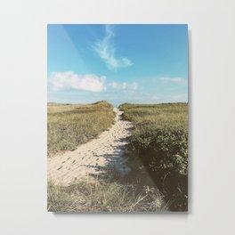 Nantucket Beach Path  Metal Print