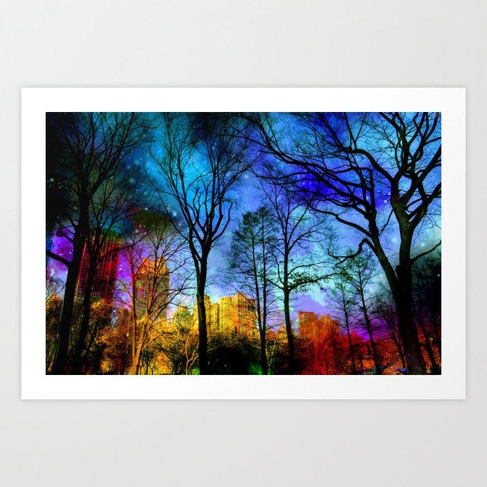 Magical sky Central Park  Art Print