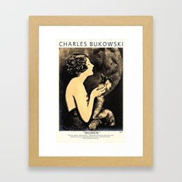 Bukowski - Women Framed Art Print