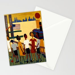 African American Masterpiece 'Ferry' NYC by William Johnson Stationery Cards