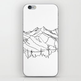 Squamish Summits :: Single Line iPhone Skin