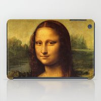mona lisa iPad Cases featuring Mona Lisa by Color and Patterns