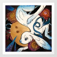 Jade Rabbit Art Print
