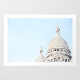 Blue Paris Art Print
