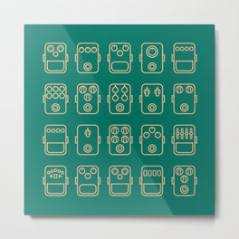 Effects pedals 5x4 blue green Metal Print