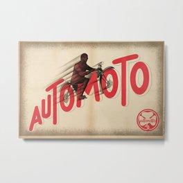 1931 Vintage Art Deco 3 Advertising Poster Automoto Motos Bicycles Motorcycles  Metal Print