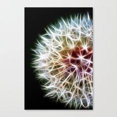 Fractal dandelion Canvas Print