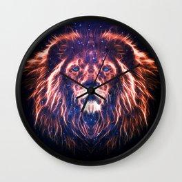 GLOWING LION Wall Clock
