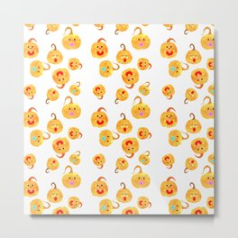Pumpkin Babies Metal Print