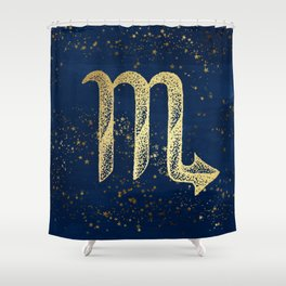 Scorpio Zodiac Sign Shower Curtain