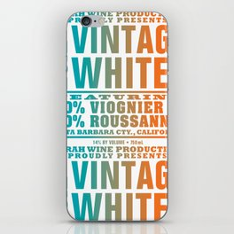 Vintage Whites Wine Label iPhone Skin