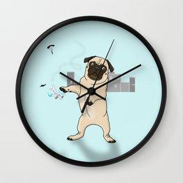 Attack of the Massive Pug!!! Wall Clock